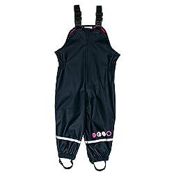 SALT AND PEPPER Baby-Mädchen Trousers RB B Girls Uni Regenhose, Blau (Navy 480), (Herstellergröße: 98)
