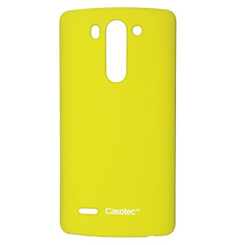 Casotec Ultra Slim Hard Shell Back Case Cover for LG G3 Beat - Yellow  available at amazon for Rs.109