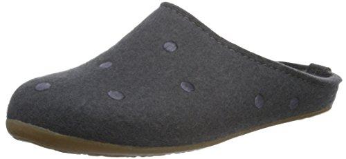 Haflinger Noblesse, Chaussons mixte adulte Gris - Grau (Asphalt 58)