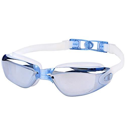 QQLCK Galvanisch beschichtete rote Schwimmbrillen für Erwachsene Hochauflösende Schwimmbrillen für Männer und Frauen mit der gleichen modischen Schutzbrille (Color : 4)