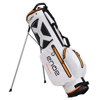 BIG MAX AQUA OCEAN Golf Standbag - Ultraleicht 100% Wasserdicht (White/Orange)
