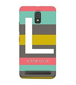 PrintVisa Designer Back Case Cover for Lenovo A6600 (Love Pattern)
