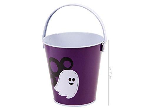 Alsino Halloween Eimer Süßigkeiten Eimerchen Candy Bucket, Variante wählen:P977038 Geist