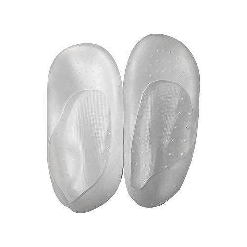 2pair Silikon-Gel Feuchtigkeitsspendende Socken für Keep Moisture Smooth Skin Repair Trockenriss entfernen Schwielen-Haut (weiß) Schützen