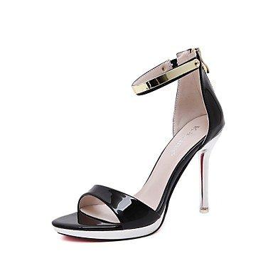 LvYuan Da donna-Sandali-Casual Serata e festa Formale-Suole leggere Club Shoes Comoda-A stiletto-Vernice-Nero Rosso Bianco White
