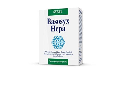 SYXYL Basosyx Hepa Tabletten – Nahrungsergänzungsmittel mit Cholin zur Erhaltung einer normalen Leberfunktion & Zink für den Säure-Basen-Haushalt – 60 Tabletten im Blister