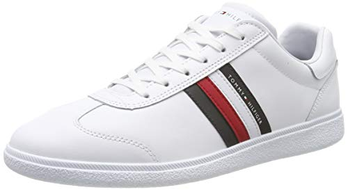 Tommy Hilfiger Herren Essential Corporate Cupsole Sneaker, Weiß (White 100), 43 EU