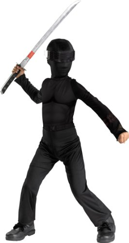 Joe Gi Costume I (G.i. Joe Snake Eyes Classic Halloween Costume Kids Dress up)
