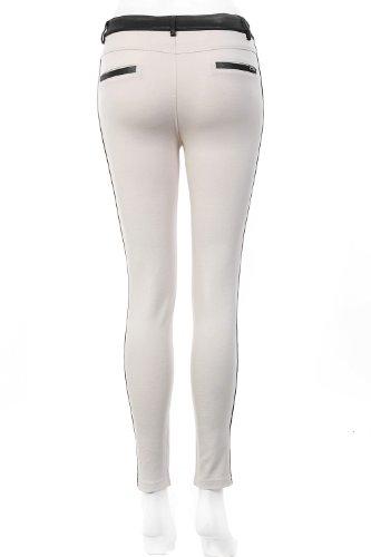 Legging à empiècement contrastant Blanc