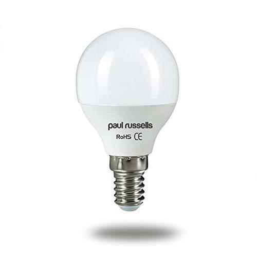 Paul Russels Lot de 37W = 60W Golf ampoules LED E14Culot à vis 7W Petit Globe...