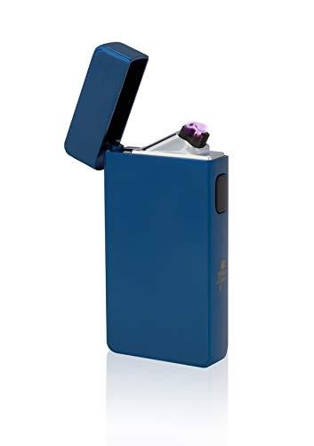 TESLA Lighter T13 Lichtbogen-Feuerzeug, elektronisches USB Feuerzeug, Double-Arc Lighter, wiederaufladbar, Blau
