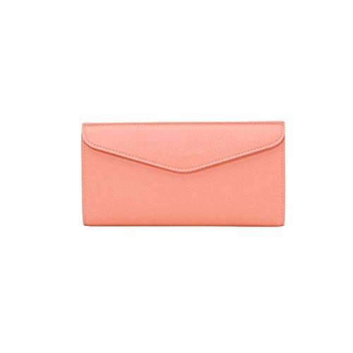Lange Brieftasche Holding Beutel Damen Tasche Einfache Umschläge Brieftasche Brieftasche Freizeit Mode Pink