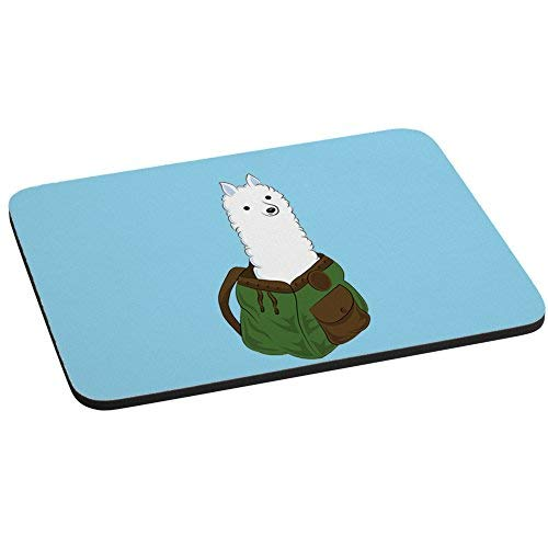 Alpaka in einem Rucksack I werden Pack eine Alpaka Computer Maus Pad -