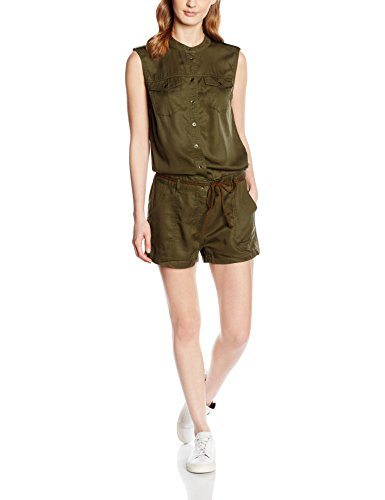 ONLY Onlarizona Shorts Playsuit Pnt, Tuta Donna, Verde (Grape Leaf), W38