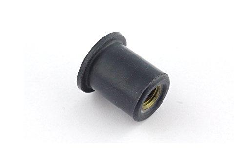Preisvergleich Produktbild 50x Gummimutter M4 Neopren - Verkleidung Motorrad Gummi Mutter Vibrationsdämpfer