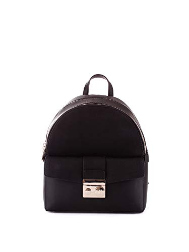 Trussardi Jeans Damen with Love City Backpack Md Eco Rucksack, Schwarz (Black), 11.5x32x26 Centimeters -
