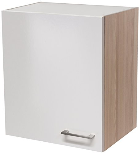 Flex-Well 00007133 Oberschrank Abaco Perlmutt glänzend, Akazie 50 x 54,8 x 32 cm