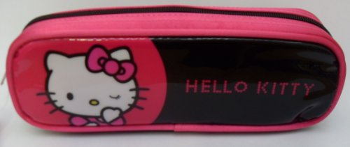Hello Kitty – Estuche, color rosa y negro