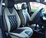 #4: BIGZOOM _(BZ-503 Cross Grey) Stylish & Comfort fit Leatherite Car Seat Cover For Celerio