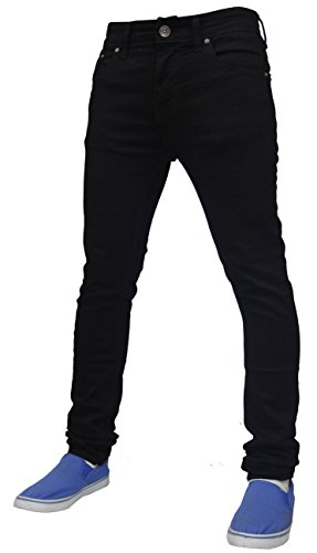 Mens True Face 021 Skinny Jeans Black Waist 38 R