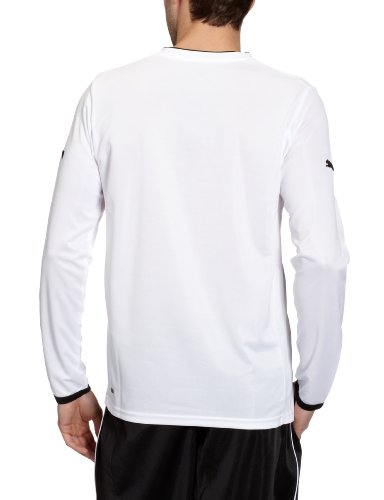 PUMA Herren Langarmshirt Powercat 3.12 Long Sleeve Shirt White-black