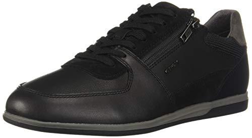Geox U Renan B, Sneakers Basses Homme, Noir (Black C9999), 44 EU