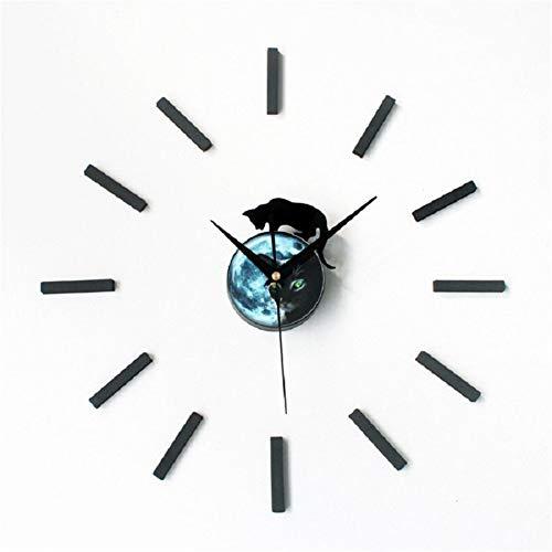 FOOSKOO Desk Clock DIY Wanduhr Schöne Kätzchen Stille Uhr Dekorationen Für Home Office Wohnzimmer Schlafzimmer Dekoration 16in (Kätzchen Wecker)