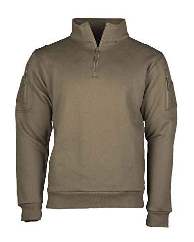 Mil-Tec Tactical Sweat-Shirt m.Zipper Ranger Green Gr.M