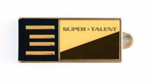 Super Talent Pico-C USB-Speicherstick (USB 2.0) Gold 16 GB