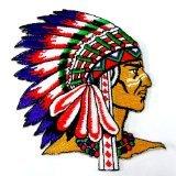 I0173 indio nativo americano Jefes de tribu 121,92 cm a presión hierro parche bordado Appliques hechos a mano en Tailandia