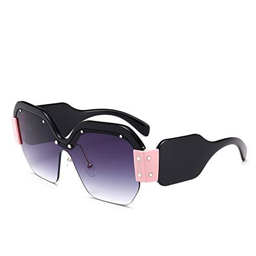 Mojingyan occhiali da sole quadrato grigio occhiali da sole la metà telaio quadrato donne occhiali da sole vintage uomini integrato di lenti colorate sfumature uv400