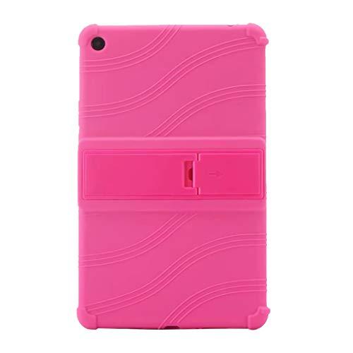 Mumuj Silikon Hülle Für Xiaomi 4 Plus 10.1Inch, Tablette Abdeckung Fall Tragbare Schützend Schlank Ständer Case Shell Standplatz Ledertasche Slim Stand Fall Abdeck (Pink)