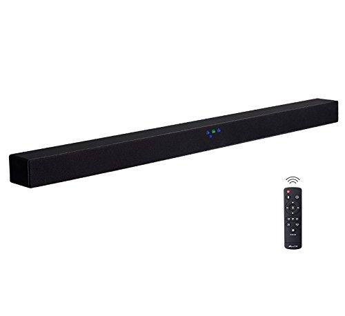 Kabelloser TV-Lautsprecher (40 W, Bluetooth-Soundbar, Fernbedienung, starker Bass, unterstützt Externe verkabelte Audio-Sounds & SD-Karte/USB-Eingang, Subwoofer-Ausgang, Surround-Heimkino-System