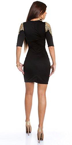 In-Stylefashion - Robe - Femme Beige Beige Noir - Noir