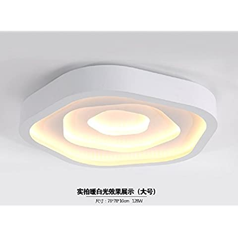 Ooccasion Creative Soffitto Led Luce Per La Camera Da Letto Principale Di Luce Personalità Minimalista (Peltro Spazzolato Due Luce)