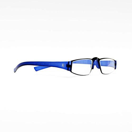 Z-ZOOM Lesebrille Style 11411 Blau +1.0 Damen Herren Unisex Lesebrillen Augenoptik Flexibel Lesehilfe Sehhilfe Leser Brille
