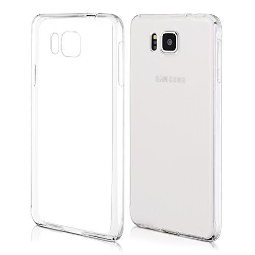 kwmobile Samsung Galaxy Alpha Hülle - Handyhülle für Samsung Galaxy Alpha - Handy Case in Transparent