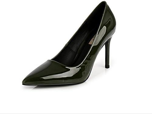 XZGC Los Zapatos de Tacón Alto con Señaló Zapatos Profesionales