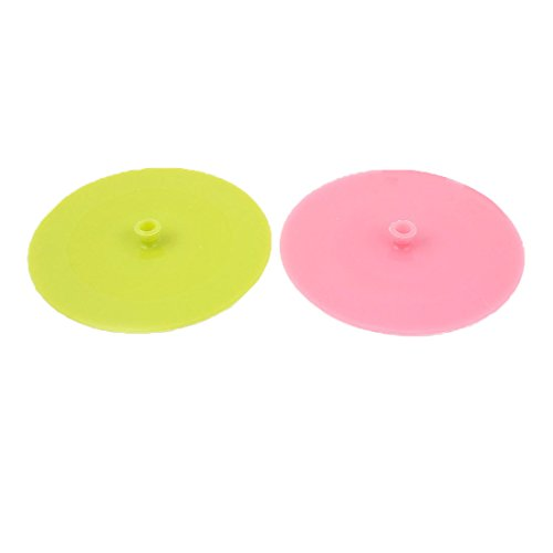 sourcingmap 2 Stk 13,5 cm Durchmesser Silikon Kochen Lebensmittel Lagerung Schüssel Schale Abdeckung Verpackung Sog Deckel