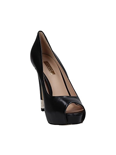Guess Spaltung Damen Schuhe Hadie4 Open Toe Lether Heel 12 Pl 3 Black Black