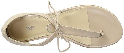 HUGO Damen Felicity 10195652 01 Offene Sandalen mit Keilabsatz Beige (Light Beige 270)
