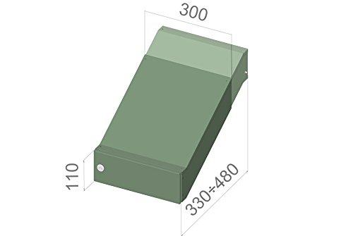 D-042 Edelstahl Mauerdurchwurf Briefkastenanlage (variable Tiefe) ohne Namensschild – LETTERBOX24.de - 4