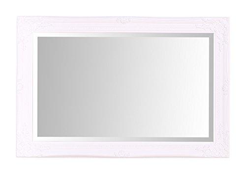 Select Mirrors Espejo de pared de Rhone, estilo barroco francés, 60 cm x 90 cm, color blanco