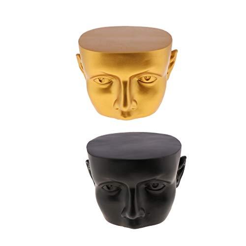 perfk 2 Stücke Gesicht Form Brillenständer Brillenhalter Brillenablage Sonnenbrillenständer Gestell Glas Anzeigen Regall