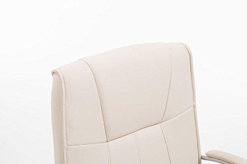 CLP Besucher Freischwinger-Stuhl BASEL V2 mit Armlehne, gepolstert creme - 5