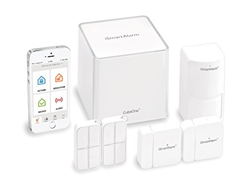 iSmart Alarm Sistema di Sicurezza Domestico, Wireless, Modulabile con App per iOS ed Android, Bianco