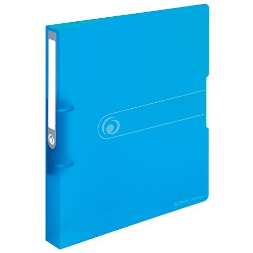 Herlitz 11205762 Ringbuch A4 (PP, 2-Ring-Kombi-Mechanik, 3,8 cm Rücken, 25 mm Füllhöhe) blau
