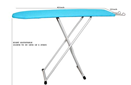 Olrada Folding Ironing Board/Iron Table with Press Holder Size 30.5X107 cm (12X42 Inch)
