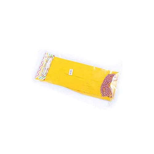 Archiba 1 Packung Papier Metallic Mint Quaste Garland Fringe Hochzeit Geburtstag Partei-Dekor Hintergrund-Fahnen-Ballone Geschlecht Decken Geschenke, Gelb (Gold Hintergrund Fringe)