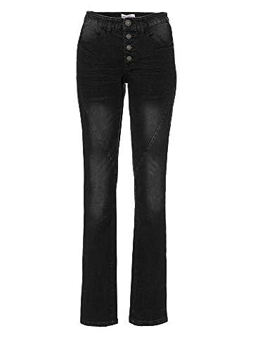 sheego Denim Damen Jeans Übergröße schwarz 56/8XL kurz